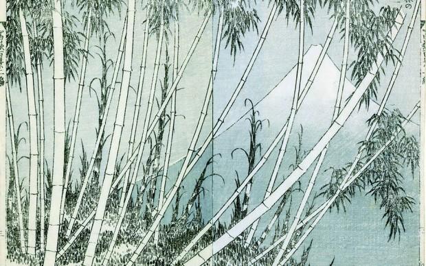 HOKUSAI_Il Fuji da una macchia di bambù