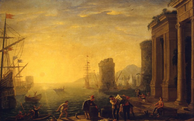 Claude Gellée detto Le Lorrain, Mattina al porto, 1637 - 1640 ca
