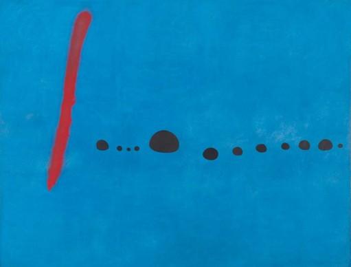 Joan Miró, Blue II/III, 4 March 1961 (Bleu II/III, 4 mars 1961), Musée National d'Art Moderne. Centre Georges Pompidou, Paris © Successió Miró / VG Bild-Kunst, Bonn 2016