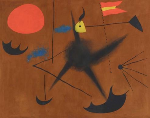 Joan Miró, Spanish Flag (Drapeau espagnol), 1925, Private collection, Switzerland © Successió Miró / VG Bild-Kunst, Bonn 2016