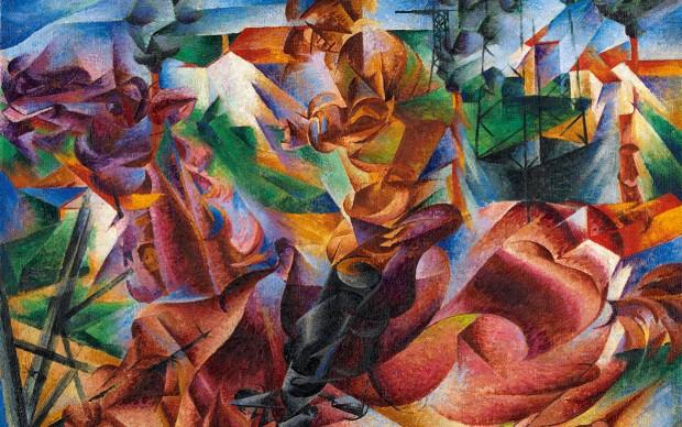 Umberto-Boccioni Elasticità 1912