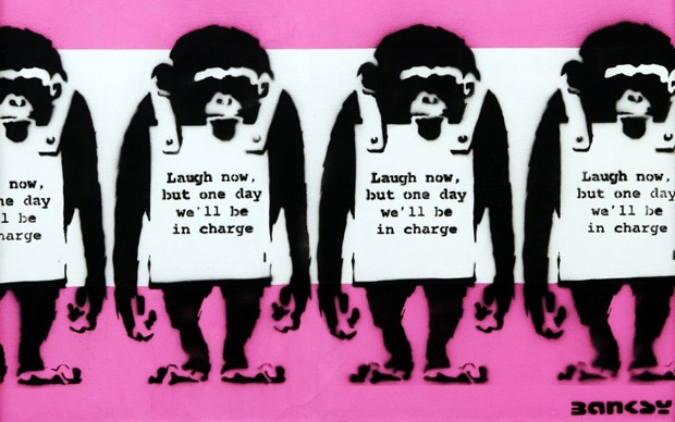 Banksy Four Monkeys (PRNewsFoto/Moco Museum)