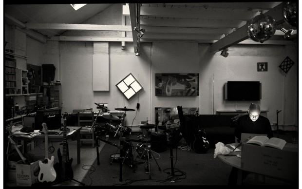 brian eno in studio