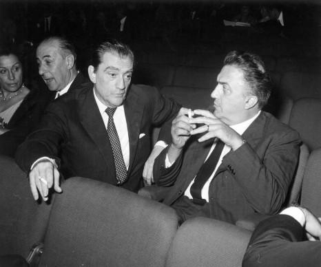 Luchino Visconti e Federico Fellini
