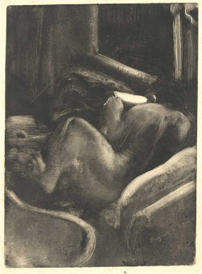 Edgar Degas, Woman Reading (Liseuse), c. 1880–85. Monotype on paper. Plate: 14 15/16 x 10 7/8 in. (38 x 27.7 cm), sheet: 17 7/16 x 12 13/16 in. (44.3 x 32.5 cm). National Gallery of Art, Washington, D.C. Rosenwald Collection, 1950