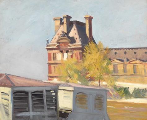 Edward Hopper (1882-1967), Le Pavillon de Flore, 1909, Whitney Museum of American Art, New York; Josephine N. Hopper Bequest © Heirs of Josephine N. Hopper, Licensed by Whitney Museum of American Art