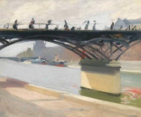 Edward Hopper (1882-1967), Le Pont des Arts, 1907, Whitney Museum of American Art, New York; Josephine N. Hopper Bequest © Heirs of Josephine N. Hopper, Licensed by Whitney Museum of American Art