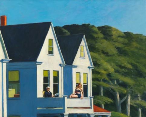 Edward Hopper (1882-1967), Second Story Sunlight, 1960,  Whitney Museum of American Art, New York; Josephine N. Hopper Bequest © Heirs of Josephine N. Hopper, Licensed by Whitney Museum of American Art