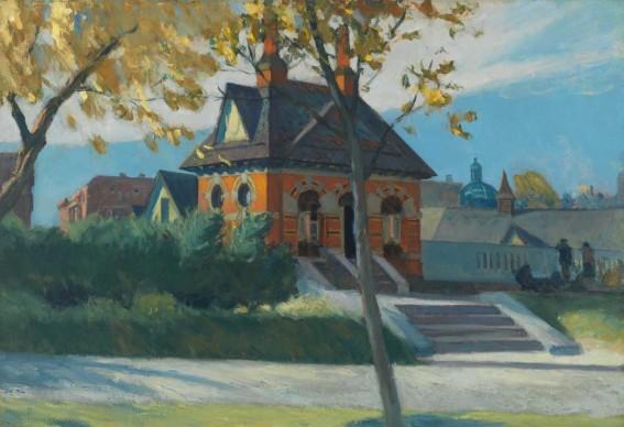 Edward Hopper (1882-1967), Small Town Station, 1918-1920, Whitney Museum of American Art, New York; Josephine N. Hopper Bequest © Heirs of Josephine N. Hopper, Licensed by Whitney Museum of American Art