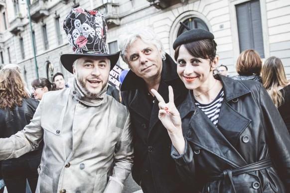 Paolo Dalla Mora, Dino Abbrescia e Susi Laude al Design Pride, Milano - 13 aprile 2016. Ph Meschina