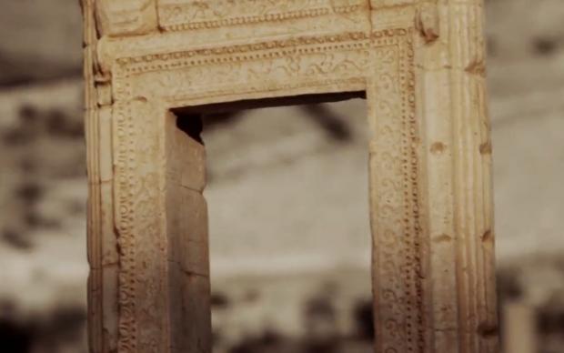 Robot all'opera per ricreare l'Arco del Tempio di Bel di Palmira, TOR ART, Carrara