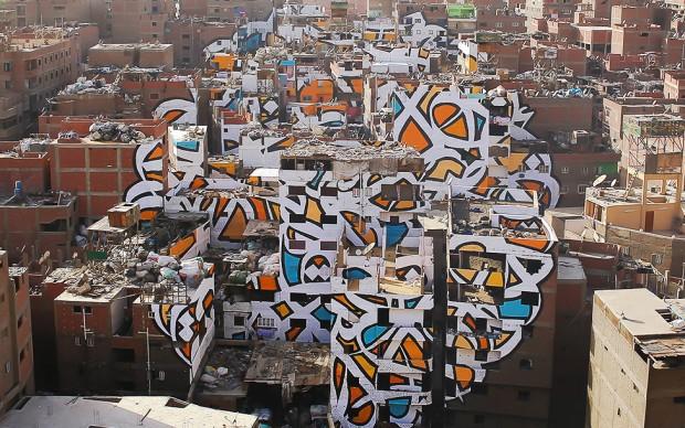 el seed graffito street art quartiere rifiuti cairo egitto