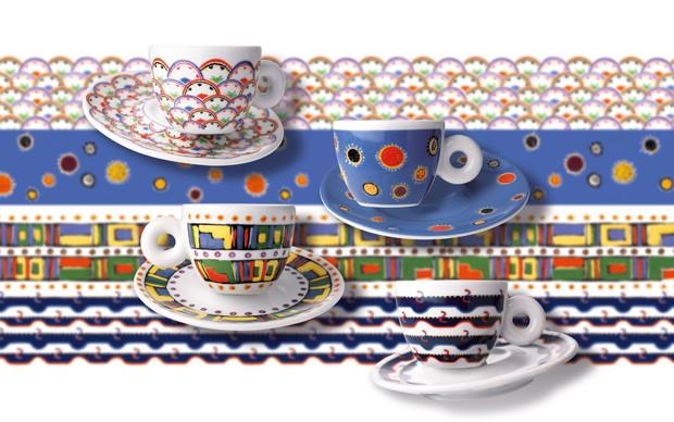 Gillo Dorfles illy art collection tazzine da caffé