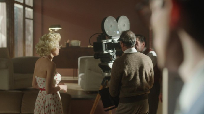 Una scena tratta dalla puntata di Artists in Love dedicata ad Arthur Miller e Marylin Monroe
