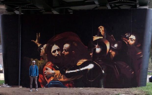 urban-canvas-varese-murale-cattura-di-cristo-caravaggio
