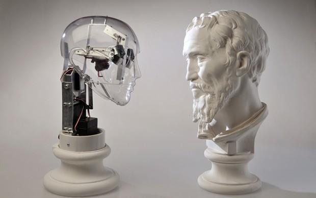 Ale Guzzetti, Affective robots, Daniele da Volterra Michelangelo, 2014 © l'artista