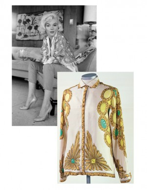 Original photo by George Barriy, Marilyn in 1962 wearing her Pucci blouse, Collection Stampfer / Minguez Ricart. Image collage: Copyrights Ted Stampfer
