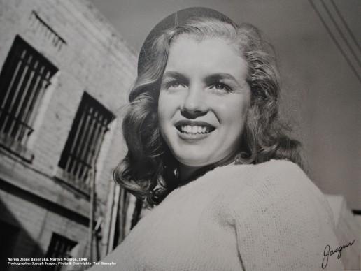 Photograph of Norma Jeane Baker aka. Marilyn Monroe in the beginning of her modeling career, 1946. Photographer: Joseph Jasgur, Copyrights Ted Stampfer