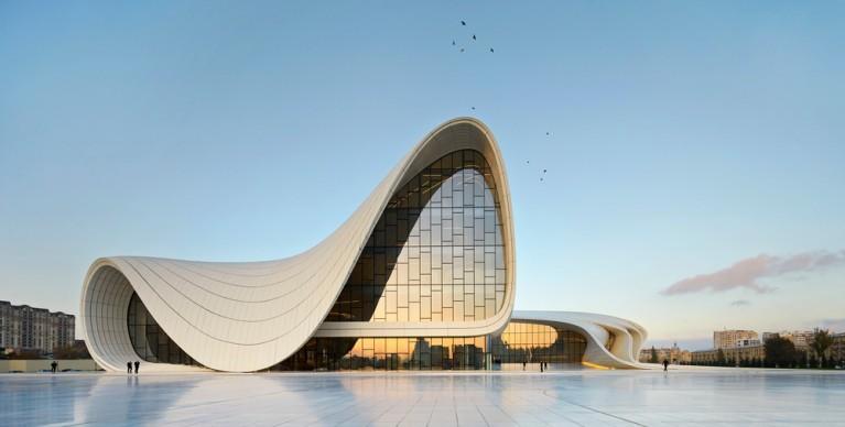 Zaha Hadid Architects,  Heydar Aliyev Center, Baku. Photo credit: Hufton+Crow