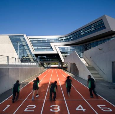 Zaha Hadid Architects, Evelyn Grace Academy, London. Photo credit: Luke Hayes