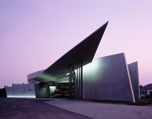 Zaha Hadid Architects, Vitra Fire Station, Weil am Rhein, Germany. Photo credit: Christian Richters