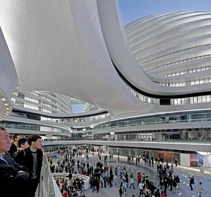 Zaha Hadid Architects,  Galaxy Soho, Beijing. Photo credit: Hufton + Crow