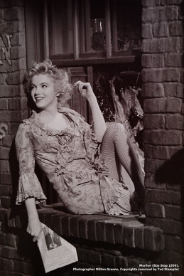 Marilyn in a scene oft he movie Bus Stop (1956). Photograph by Milton Greene. Copyright owner: Ted Stampfer