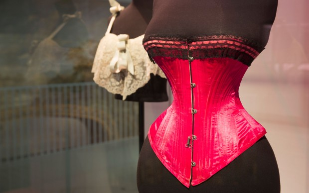 Installation view of Undressed: A Brief History of Underwear 3 MB (c) Victoria and Albert Museum, London