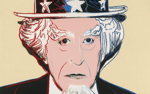 Andy Warhol, Uncle Sam, 1981, serigrafia su Lenox Museum Board, 96,5x96,5 cm