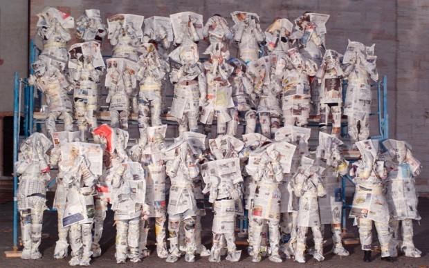 Olaf Breuning Good News, Bad News 2008 C-print su carta 136 x 186 cm Collezione Annette e Peter Nobel