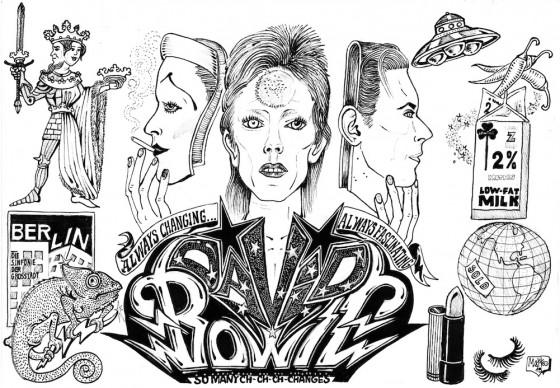 David Bowie Play Book © Matteo Guarnaccia/24 ORE CULTURA