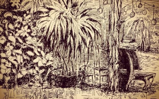 Eleonora-Prado-A-small-garden-in-the-jungle mostra moleskine viaggi di artista spazio tadini milano