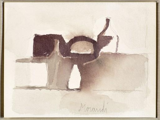Giorgio Morandi, Natura morta, 1958, Acquerello su carta artigianale di Fabriano, Morat-Institut für Kunst und Kunstwissenschaft, Freiburg im Breisgau © 2016, ProLitteris, Zürich