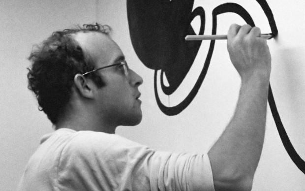 Keith Haring nel marzo del 1986
