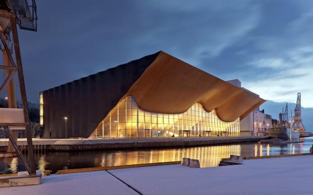 Kilden, ALA Architects con SMS Arkitekter. Photo Iwan Baan. Progetto al Padiglione Paesi Nordici - Biennale di Architettura di Venezia 2016
