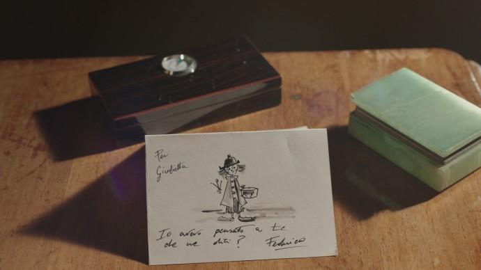 Una scena tratta dall'episodio di Artists in Love dedicato a Federico Fellini e Giulietta Masina