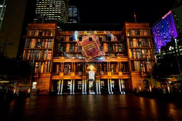 Vivid Sydney 2016, Circular Quay, Customs House, Sydney's Hidden Stories. Photo Credit - James Horan / Destination NSW