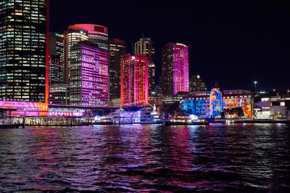 Vivid Sydney 2016, Circular Quay. Photo Credit - Destination NSW