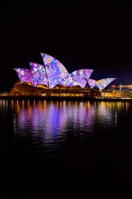 Vivid Sydney 2016, Opera House, Lighting The Sails, Songlines. Photo Credit - James Horan/Destination NSW