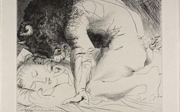 pablo picasso incisione minotauro vollard suite 1933