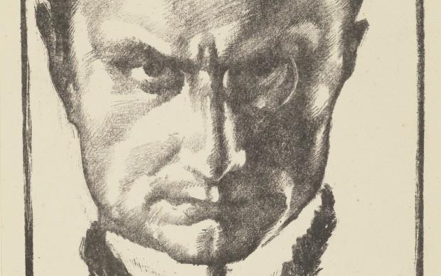 Giannino Marchig (Trieste, 1897 – Vandoeuvres, 1983) L'uomo dal monocolo (Virgilio Bondois), 1917 circa; litografia