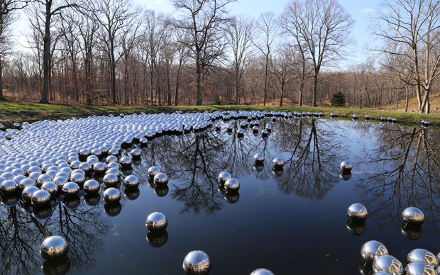 yayoi-kusama-narcissus-garden glass house new york