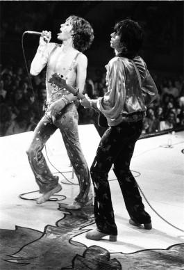 © Michael Putland, Mick Jagger & Keith Richards live a Wembley, 1973