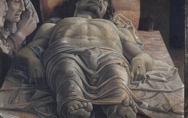 Andrea Mantegna compianto su Cristo morto pinacoteca di brera milano