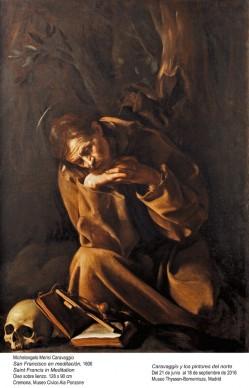 Michelangelo Merisi, detto il Caravaggio, San Francesco in meditazione, 1606