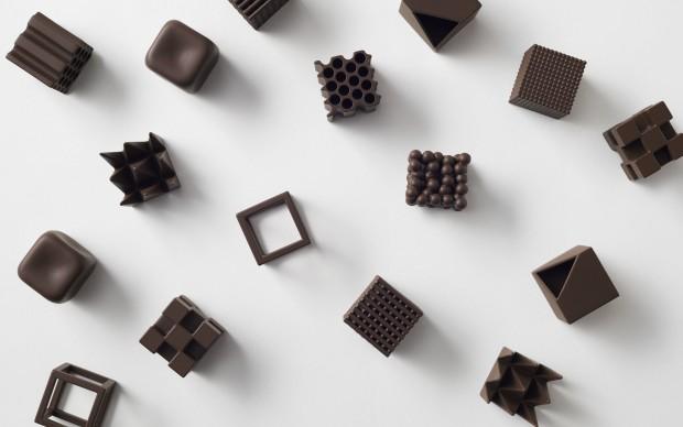 Nendo, Chocolatexture. Photo credits: Akihiro Yoshida
