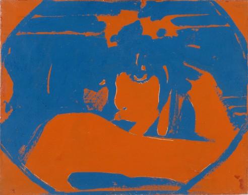 Giosetta Fioroni, Liberty piccolo, 1965, smalti su tela, 40 x 50 cm