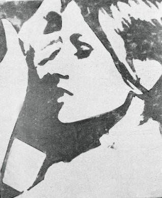 Giosetta Fioroni, Ragazza TV, 1964, matita e smalto alluminio su carta, 100 x 70 cm