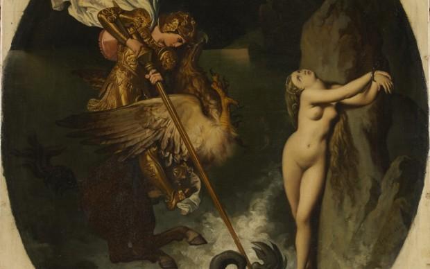 Jean Auguste Dominique Ingres Ruggero libera angelica 1841 olio su tela, 54 x 46 cm. MI.842.8 Montauban, Musée Ingres