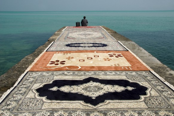 Jalal Sepehr, Water & Persian Rugs, 2004